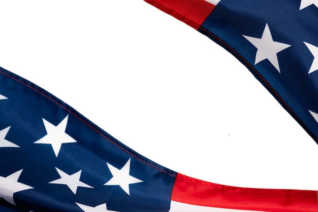 背景としてのアメリカの国旗。上面図。