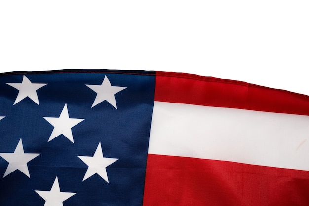 American flag as a background top view