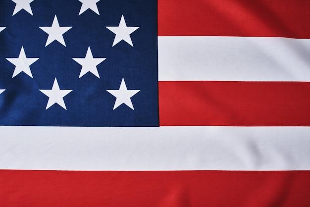 アメリカの国旗として。アメリカ国旗、クローズアップ