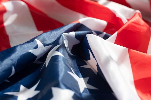 Фон американского флага. текстура символа сша заделывают.