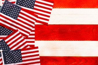 American flag background with copyspace for independence day