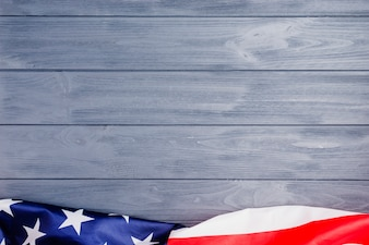 American flag background with copyspace on top
