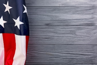 American flag background with copyspace