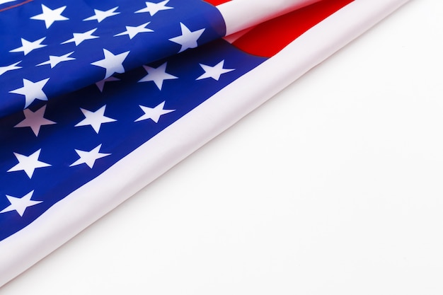 American flag border isolated on a white background