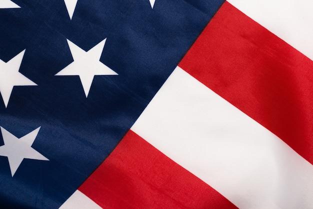 Американский флаг крупным планом