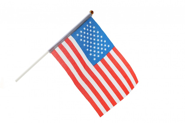 American flag isolated
