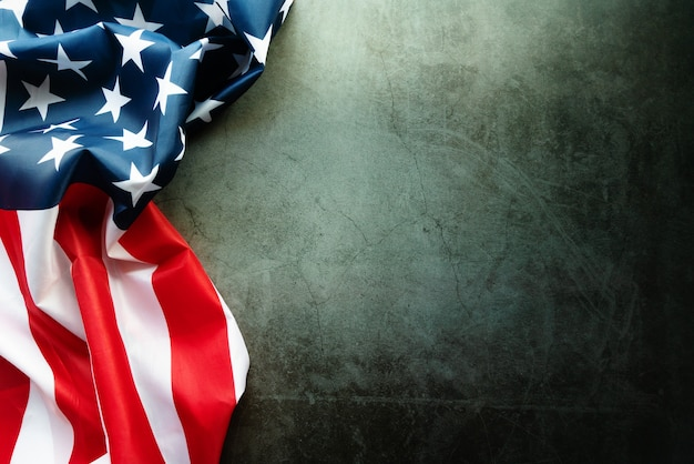 抽象的な背景にアメリカの国旗