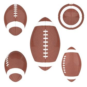 흰색 배경에 고립 된 미식 축구 공
