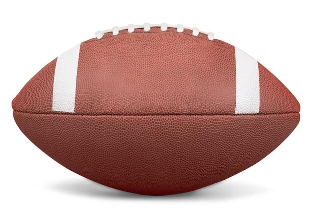 白い背景で隔離のアメリカンフットボールのボール