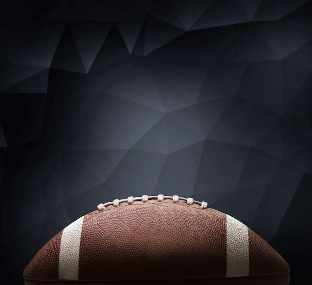 多角形の背景にアメリカンフットボールのボール