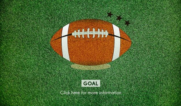 Concetto di gioco di sport di obiettivo di football americano