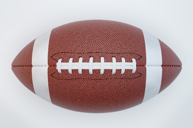 American football isolated on white surface