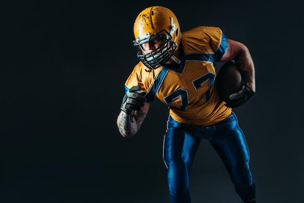 アメリカンフットボールの攻撃的なプレーヤー、nfl Premium写真