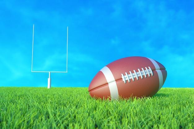 フィールド上のアメリカンフットボール