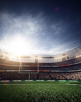 アメリカンフットボールサッカースタジアム Premium写真