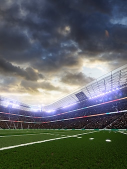アメリカンフットボールサッカースタジアム