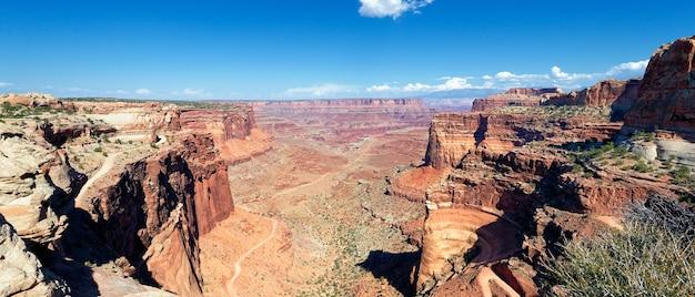 アメリカの風景、キャニオンランズ、ユタ州、アメリカ合衆国のパノラマビュー