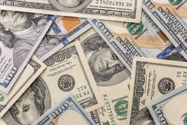 背景としてのアメリカの紙のドル札