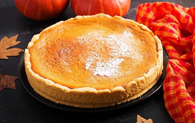 American pumpkin pie.