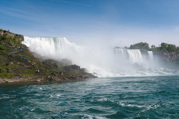 Американская сторона ниагарского водопада, штат нью-йорк, сша