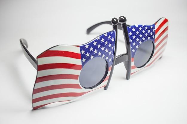 American-style sunglasses.