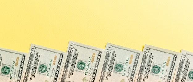 American twenty dollar bills background