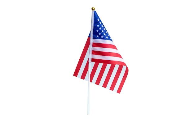 アメリカの祝日と選挙の高品質の写真のためのアメリカのアメリカの旗孤立した背景の休日の旗