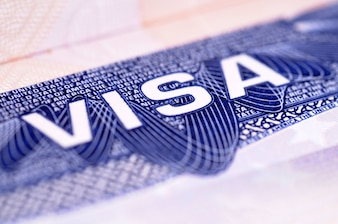 American visa document
