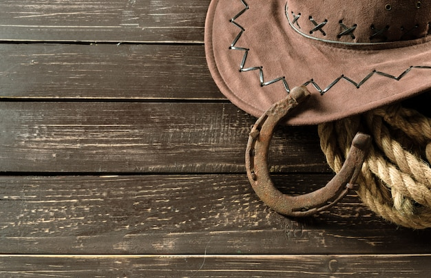American west still life with old horseshoe