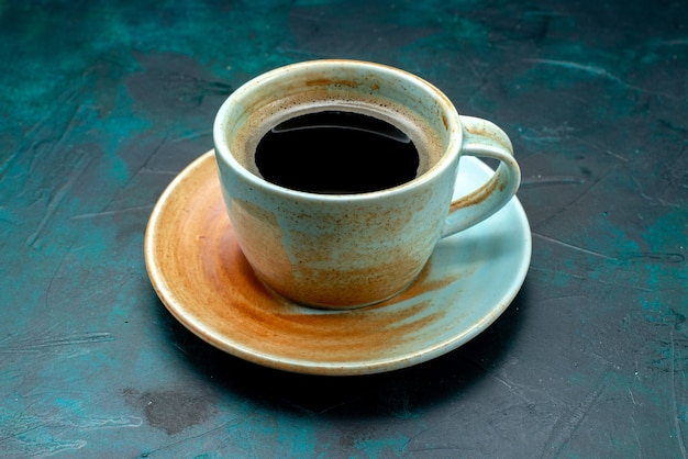 Americano with white cup and saucer