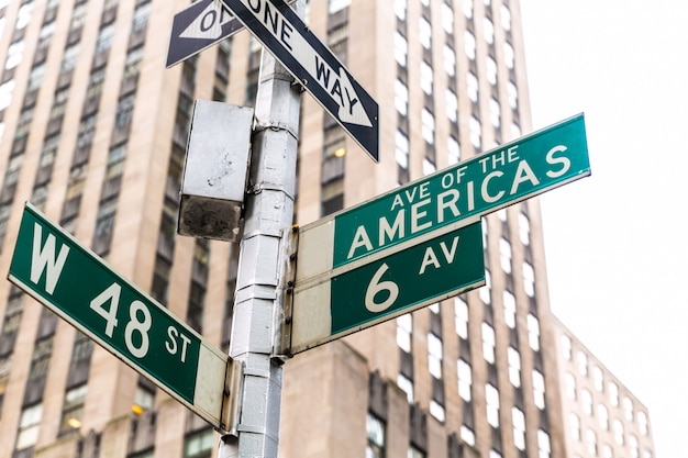 Americas avenue signs & w 48 st new york