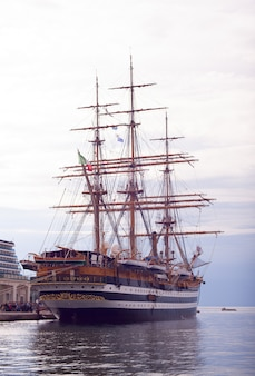 Amerigo vespucci is a tall ship of italy navy