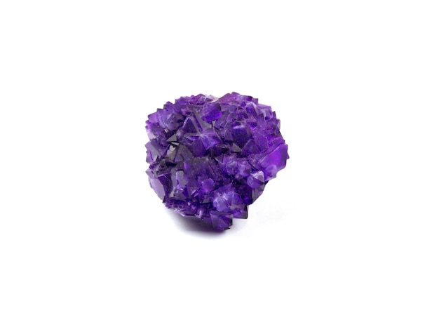 Amethyst isolated on white