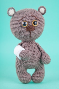 Amigurumi. knitted brown bear cub. , prevention of childhood diseases