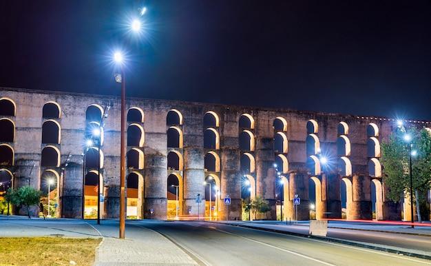Amoreira aqueduct in elvas, portugal