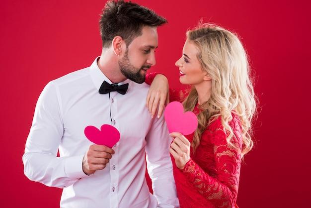 Amorous bond between man and woman