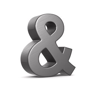 Ampersand isolated on white