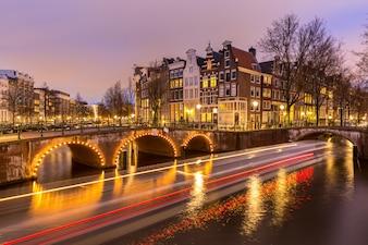アムステルダム運河オランダ