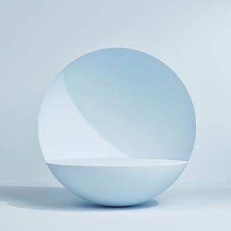 製品プレゼンテーション、3dレンダリング、3dイラストの幾何学的な形をした抽象的な最小限のシーン