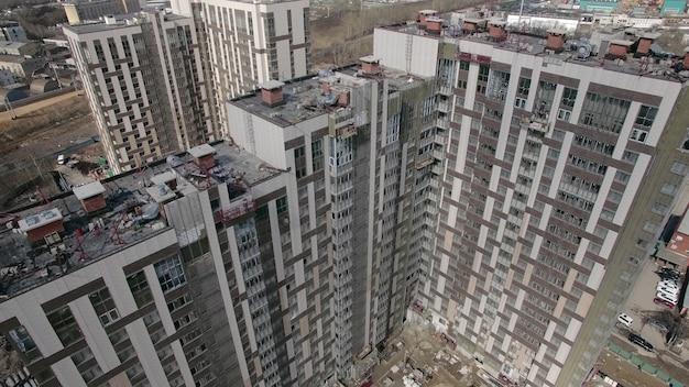 住宅建築エリアの空撮