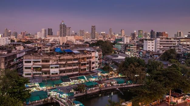 バンコク市内の空撮