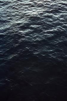 Вид с воздуха на океан в ясный день с расслабляющей атмосферой и копией пространства.