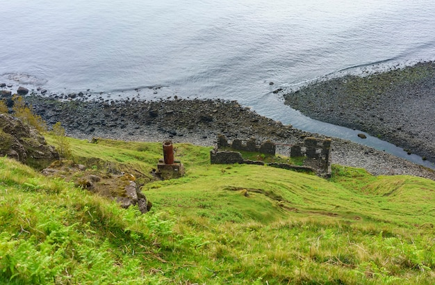 An cailc, 스코틀랜드 lealt skye의 규조토 채광