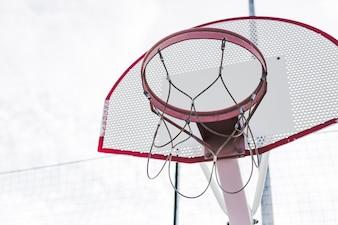 An empty basketball hoop