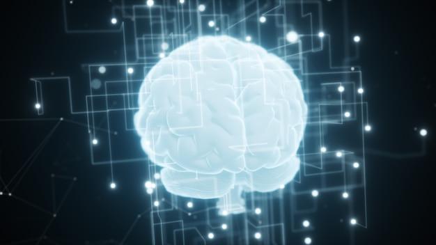 인공 지능의 디지털 두뇌 주변의 확장 네트워크