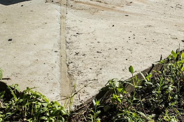 コンクリート地下室の拡張ジョイントコーナーの拡大図