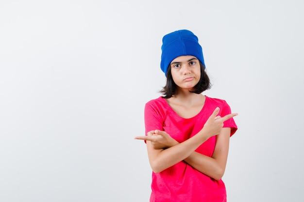 表現力豊かな10代の少女がポーズをとっている