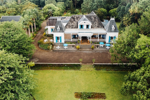 모리셔스 섬에있는 오래된 식민지 스타일의 집
