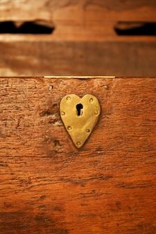 安全保管箱の古い錠(200年前、イタリア)
