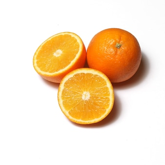 흰색 바탕에 오렌지 프리미엄 사진